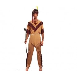 Disfraz indio para hombre talla m-l adulto 701792