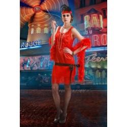 Disfraz charleston rojo mujer años 20 cabaret