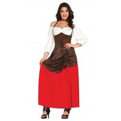 Disfraz tabernera posadera medieval talla l