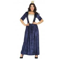 Disfraz dama medieval talla l adulto princesa azul