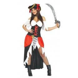 Disfraz bucanera pirata black talla m mujer pirate