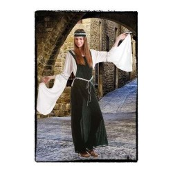Disfraz medieval verde talla m adulta doncella