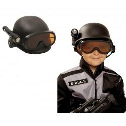 CASCO DE SWAT POLICIA DE ASALTO CON LINTERNA
