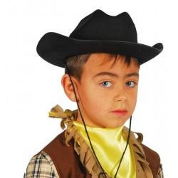 Sombrero vaquero infantil fieltro negro 13564 gu