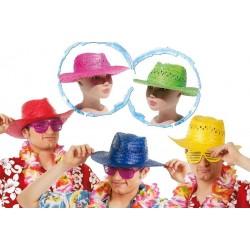 Sombrero verano paja colores surtidos fiestas