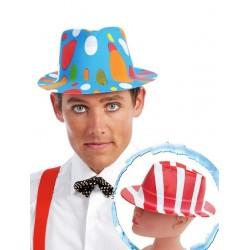 Sombrero ganster plastico colores surtidos fiesta