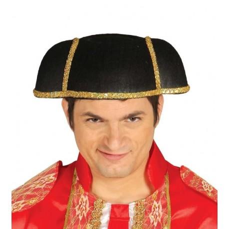 Montera torero adulto ribetes dorados sombrero. Disfraces baratos online 8ebf51f87d1e