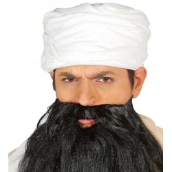 TURBANTE ARABE BLANCO BIN LADEN JIHADISTA 13130