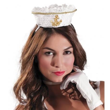 Gorro marinero mini blanco 13266 gu. Disfraces baratos online ebab1591223