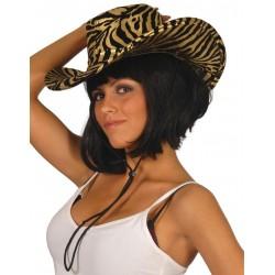 Sombrero vaquero tigre lujo brillo 13067 gorro