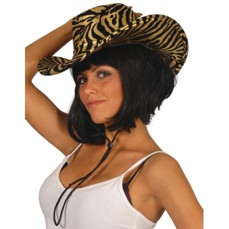 Sombrero vaquero tigre lujo brillo 13067 gorro. Disfraces baratos online 1fa389f2472