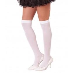 Calcetines blancos largos medias rodilla