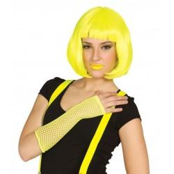 Guante malla amarillo  neon rejilla red