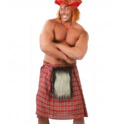 Falda escocesa roja cuadros