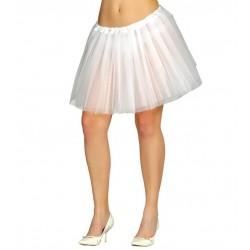 Tutu blanco adulta falda tul