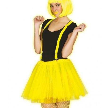 37497dd9b Tutu amarillo neon mujer adulta falda tul