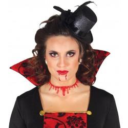 Cicatriz corte cuello con sangre halloween degolla