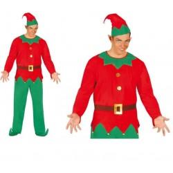 Disfraz elfo rojo ayundate de santa talla 52-54