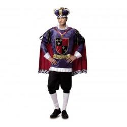 Disfraz rey medieval de lujo talla m-l adulto