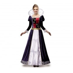 Disfraz reina medieval de lujo talla m-l adulto