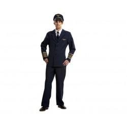 Disfraz piloto de avion talla m-l adulto