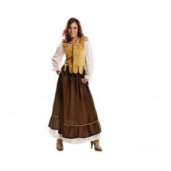 Disfraz mesonera adulto talla m-l medieval campesi
