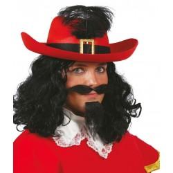 Sombrero mosquetero rojo espadachin