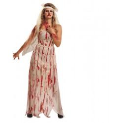 Disfraz novia cadaver sangrienta talla m-l adulto