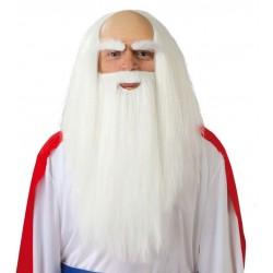 Peluca y barba druida panoramix sabio