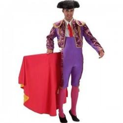 Disfraz torero morado adutlo matador lujo