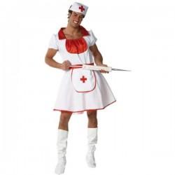 Disfraz enfermera para hombre talla unica