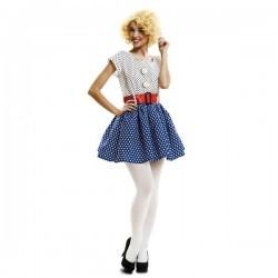 Disfraz pop art chica años 50 60 talla m-l mujer