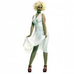 Disfraz marylin blanco talla m-l mujer