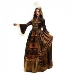 Disfraz reina medieval de lujo talla m-l