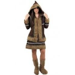 Disfraz esquimal mujer talla 44 marron de lujo