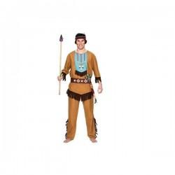 Disfraz indio salvaje adulto talla m-l lujo