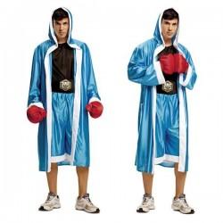 Disfraz pugil boxeador azul talla m-l adulto lujo