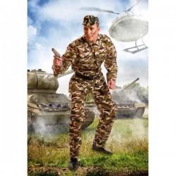 Disfraz militar soldado del ejercito adulto hombre