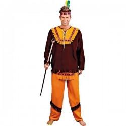Disfraz indio marron oscuro talla m-l