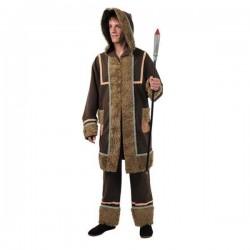 Disfraz esquimal hombre talla 52 marron de lujo