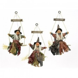 Bruja con luz y sonido 36 cm decoracion halloween