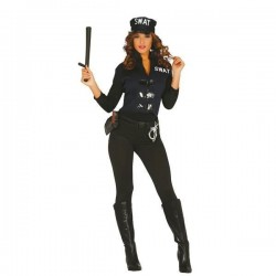 DISFRAZ SWAT MUJER TALLA S M ADULTA POLICIA 84357