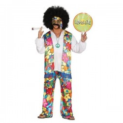 Disfraz hippie años 60 talla l adulto