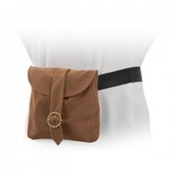 Cartera medieval bolso negro
