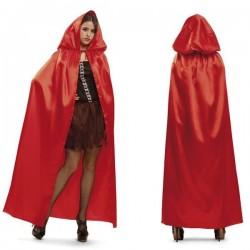 Capa roja para chica caperucita