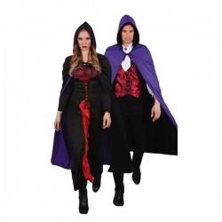Capa crepusculo reversible negro violeta