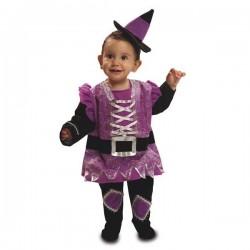 Disfraz bruijta morada 7-12 meses halloween bebes
