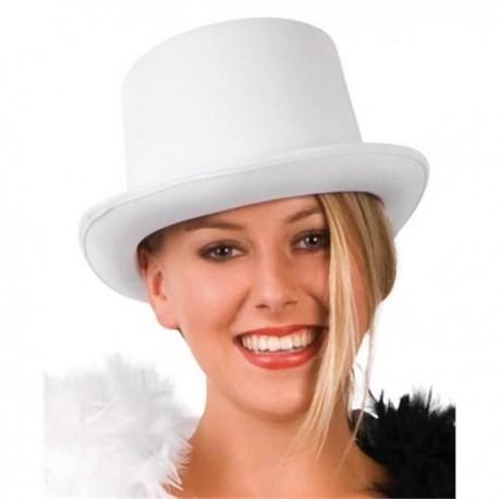 Sombrero chistera blanca barata para adulto hombre o mujer a537e2dd3ee