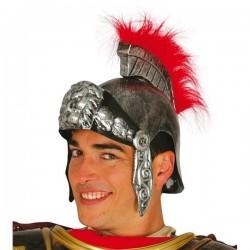 CASCO ROMANO CENTURION SOLDADO PLATEADO