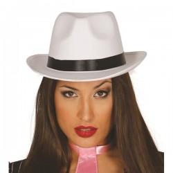 Sombrero gangster blanco alta calidad 13389